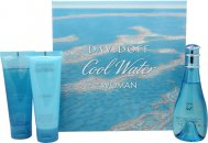 Davidoff Cool Water Geschenkset 100ml EDT + 75ml Körperlotion + 75ml Shower Breeze Duschgel
