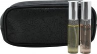Mexx Geschenkset 10ml EDT Black Woman + 10ml EDT Mexx Woman + Kulturtasche