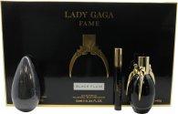 Lady Gaga Fame Geschenkset 50ml EDP + 10ml Roller Ball + 142g Soap