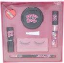 Betty Boop Geschenkset Falsche Wimpern + Kleber + Kajal + Anspitzer + Handtaschenspiegel + Lippenstift + Lipgloss