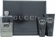 Gucci Guilty Pour Homme Geschenkset  Travel Collection 90ml EDT + 50ml Aftershave Balsam + 50ml All Over Shampoo