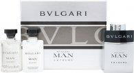 Bvlgari Man Extreme Geschenkset 3 x 15ml EDT Wiederbefüllbares Spray