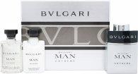 Bvlgari Man Extreme Geschenkset 60ml EDT Spray + 40ml Aftershave Balsam + 40ml Shampoo und Duschgel