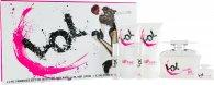 Jigsaw LOL Geschenkset 100ml EDT + 150ml Körperlotion + 150ml Duschgel + 7.5ml EDT Mini + 2 x 15ml Taschenspray
