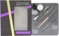 Active Glamour Night Look Cosmetic Palette - Lidschatten + Schwarzer Eye Liner + Lip Gloss + Schwarzer Mascara + Spiegel