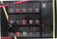 Active Cosmetics Glamour Nail Bar Selection 15 x 5ml Nagellack + 2 x Zehenseparator + Nagelfeile + 25 x Nagelschmucksteine