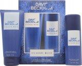 David Beckham Classic Blue Geschenkset 150ml Body Spray + 200ml Duschgel