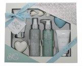 Style & Grace Puro Pure Bliss Bath & Body Geschenkset 120ml Duschgel + 100ml Body Lotion + 120ml Körperspray + 50g Seife + 100ml Körperpeeling + 3x5g Badeperlen