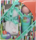 Style & Grace Bubble Boutique Socken Geschenkset 1 Paar Socken (One Size) + 90g Badekugel + 70ml Fuß Lotion