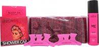 Sleep In Rollers Girls Night In Geschenkset 10 Lockenwickler + 250ml Body Soak + Duschhaube