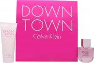 Calvin Klein Downtown Geschenkset 50ml EDP + 100ml Duschgel