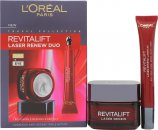 L'oreal Revitalift Laser Renew Anti-Ageing Skincare Geschenkset 50ml Tagescreme + 15ml Augencreme