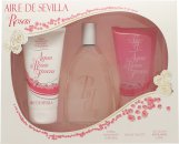 Instituto Español Aire de Sevilla Agua de Rosas Frescas Geschenkset 150ml EDT Spray + 150ml Duschgel + 150ml Body Cream