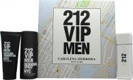 Carolina Herrera 212 VIP Men Geschenkset 100ml EDT + 100ml Duschgel + 150ml Deodorant Spray