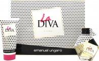 Emanuel Ungaro La Diva Geschenkset 50ml EDP + 100ml Body Lotion