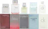 Calvin Klein Homme Geschenkset 5 x 10ml Free Sport EDT + 10ml Eternity EDT + 10ml Euphoria Men EDT + 10ml Encounter Fresh EDT + 10ml CK One EDT