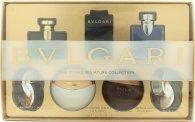 Bvlgari The Iconic Miniature Collection Geschenkset 7 x 5ml - Omnia Amethyste EDT + Jasmin Noir EDP + Aqva Divina EDT + Man in Black EDP + Aqva Amar EDT + BLV Pour Homme EDT + Omnia Crystalline EDT