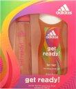 Adidas Get Ready! For Her Geschenkset 75ml EDT + 250ml Duschgel