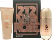 Carolina Herrera 212 VIP Rosé Geschenkset 80ml EDP Spray + 100ml Body Lotion
