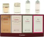 Cartier Miniatures Geschenkset 6ml Eau de Cartier Goutte de Rose EDT + 5ml Eau de Cartier EDT + 5ml Cartier Baiser Vole EDP + 6ml Cartier La Panthere EDP