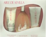 Instituto Español Aire de Sevilla Geschenkset 150ml EDT Spray + 150ml Peeling-Gel + 150ml Body Cream