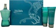 Jean Paul Gaultier Le Male Geschenkset 125ml EDT + 75ml Duschgel + 75ml Aftershave Balm