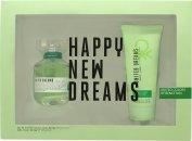 Benetton United Dreams Live Free Geschenkset 80ml EDT + 100ml Body Lotion