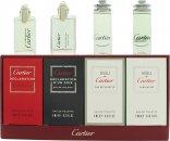 Cartier Miniaturen Geschenkset 4ml Declaration EDT + 4ml Declaration D'Un Soir EDT + 4ml Eau de Cartier EDT + 4ml Eau de Cartier Concentree EDT