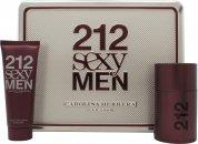 Carolina Herrera 212 Sexy Men Geschenkset 50ml EDT + 75ml A/Shave Balm