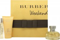 Burberry Weekend Geschenkset 50ml EDP + 50ml Body Lotion + 7.5ml EDP