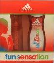 Adidas Fun Sensation Geschenkset 75ml EDT + 250ml Duschgel